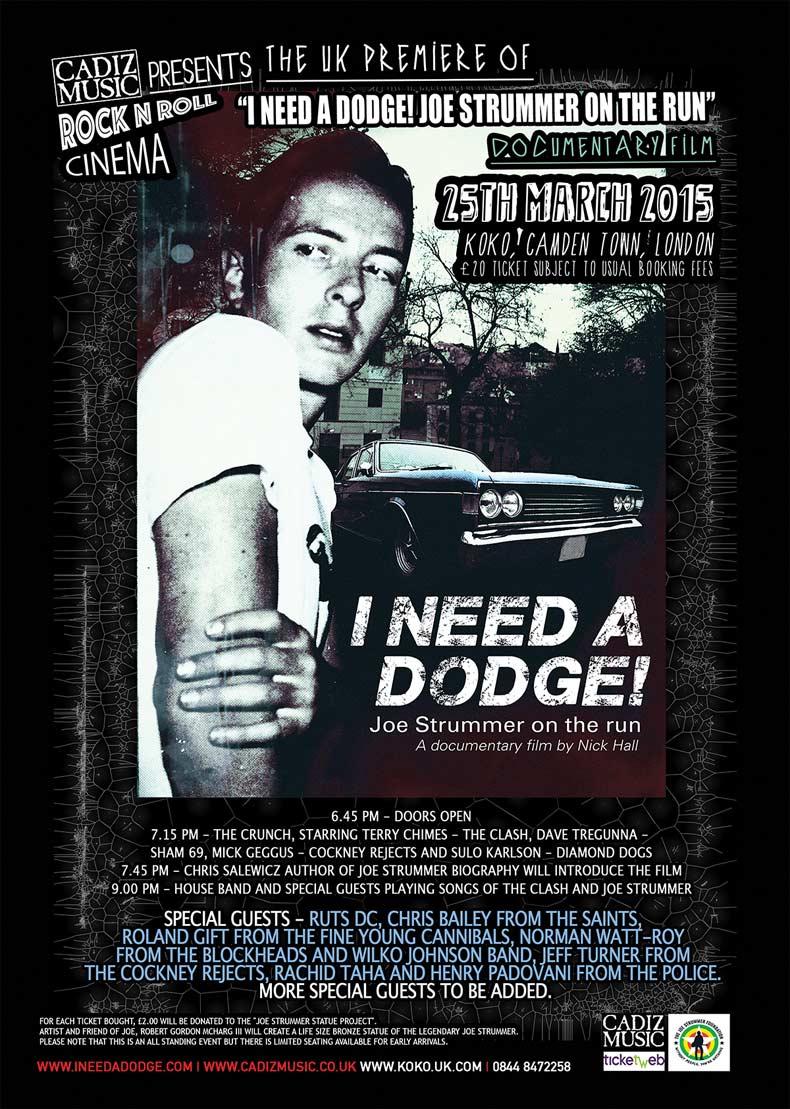 I Need A Dodge - Joe Strummer On The Run