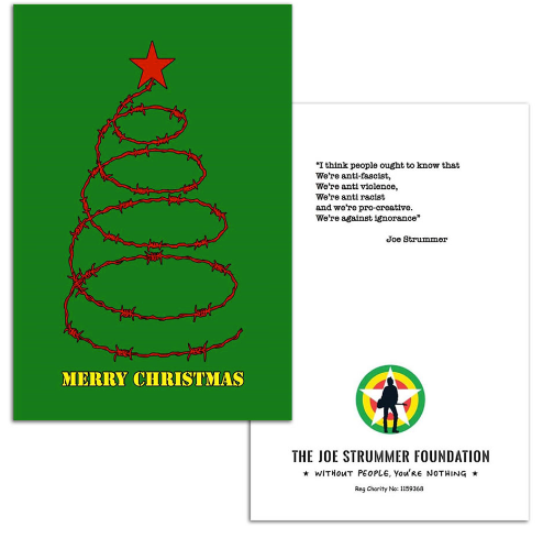 Barbed Wire Christmas Tree Card - Joe Strummer Foundation