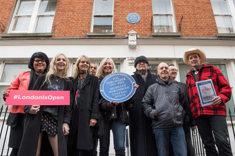 Joe Strummer plaque unveiled at the site of punk's ground zero