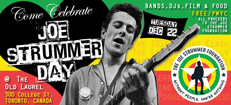 Joe Strummer Day - Toronto - The Joe Strummer Foundation