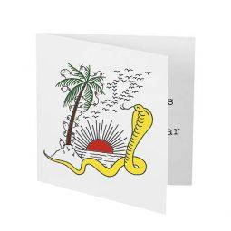Joe Strummer Foundation Christmas Cards - 2018 - Palm Tree