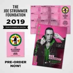 Joe Strummer 2019 Year Planner Poster