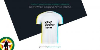 Don't Write Slogans, Write Truths – Design A T-Shirt For Joe Strummer Foundation