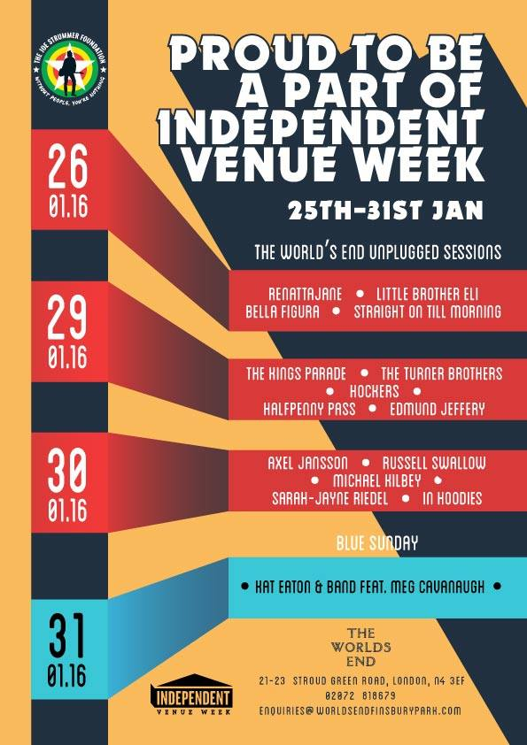 Independent Venue Week - World's End, Finsbury Park