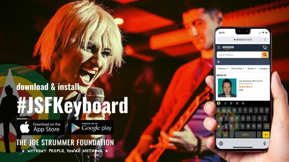 Download #JSFKeyboard Android iOS Fundrasing
