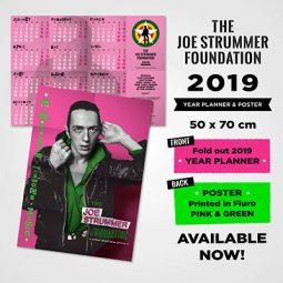 Joe Strummer Foundation 2019 Wall PLanner Poster