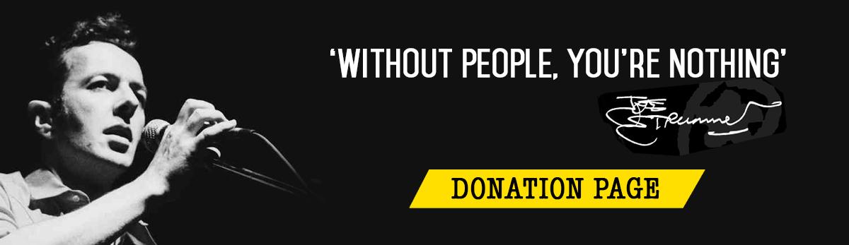 The Joe Strummer Foundation - Donate Page