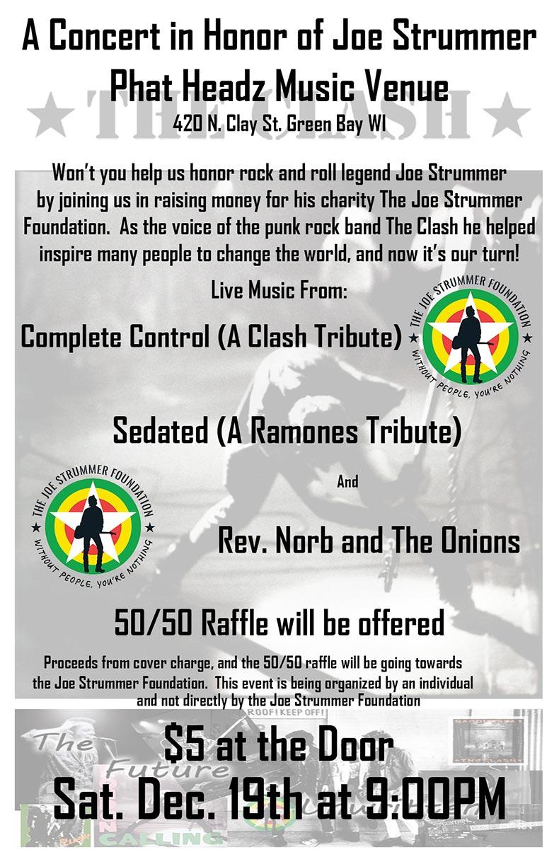 Green Bay Benefit Concert - The Joe Strummer Foundation