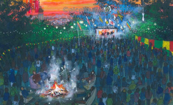 joes place - strummerville campfire glastonbury festival