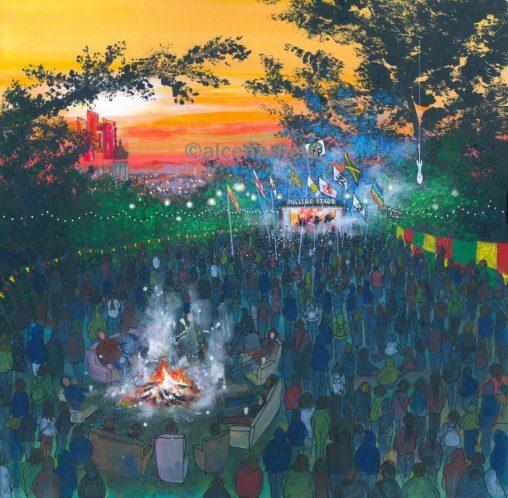 Joe's Place: Painting Strummerville Campfire, Glastonbury Festival
