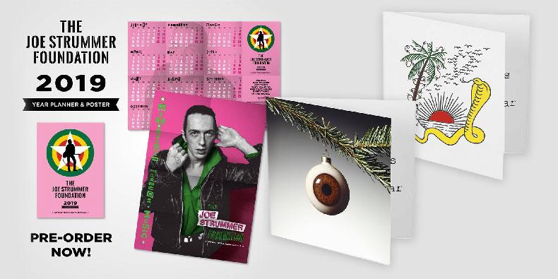 Joe Strummer Foundation Christmas Cards & 2019 Wall Planner Poster
